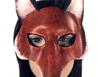 CLEARANCE SALE - Fox - Leather Mask