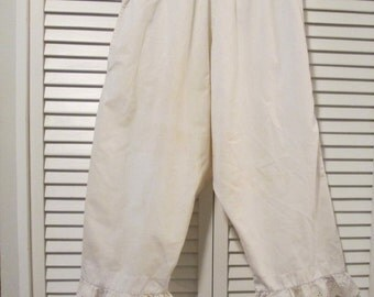 Vintage Underwear - Long Bloomers/ Pantaloons - Hand Sewn - Early 1900s