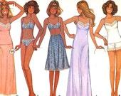 70s Lingerie pattern Bra Panties Slips Camisole vintage Sewing pattern McCalls 5358 Bust 34