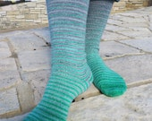 Cunning Folk (Harry Potter inspired) Stripes Matching Socks Set, 2-50g Cakes, Lavish (dyed to order)