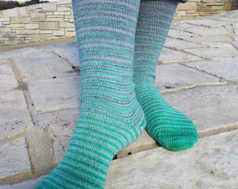 Cunning Folk (Harry Potter inspired) Stripes Matching Socks Set, 2-50g Cakes, Lavish (dyed to order)