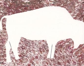 Buffalo, Buffalo Art, White Buffalo, White Buffalo Art, Original Cave Paintings of Saint Paul, unframd