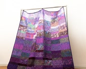 Heirloom Quilt made in your size - Amethyst Crown - made to order