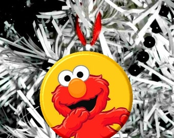 Sesame Street Elmo Ornament - Personalize Option