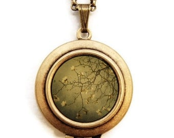 Hanging Garden - Botanical Nature Photo Locket Necklace