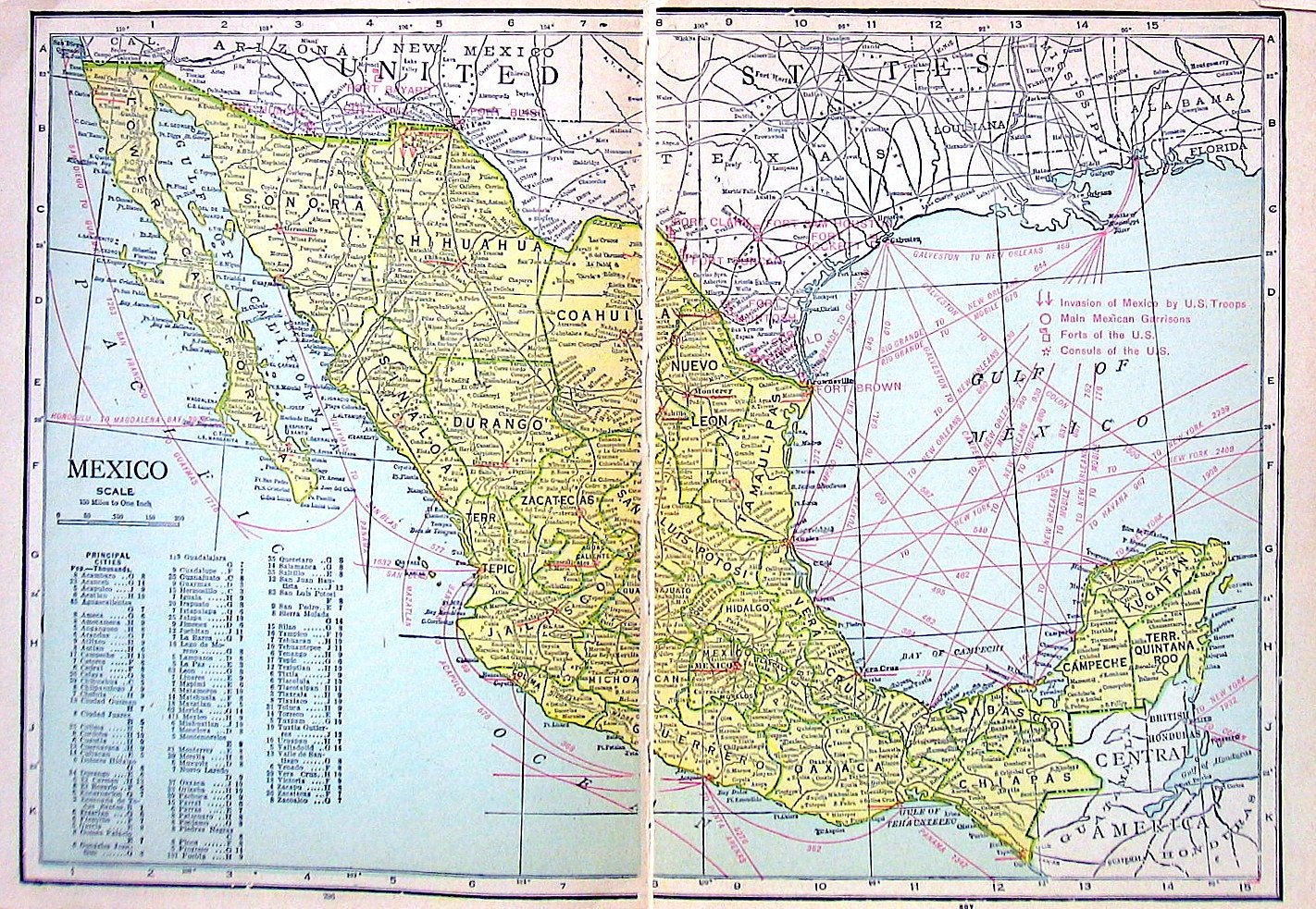 This is an image of Adaptable Printable Map of Mexico