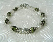 Kappa Delta Bracelet Sterling Greek Letters Swarowski Crystals Pearls OFFICIALLY LICENSED product