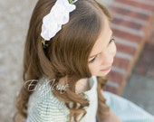 Flower Girl Headband - Vine Headband - Wedding Headpiece - Greek Hair Wreath - First Communion Hairband - Greek Leaf Crown - Girls Headband