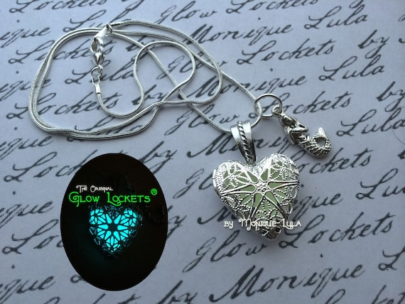 Mermaid Heart of the Atlantis Glow Locket ® Necklace