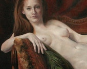 16x24 Print of oil painting figurative classical nude Jezebel by Kim Dow