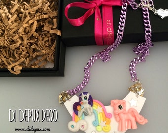 Deco Pastel Ponies Dream Necklace one and only!