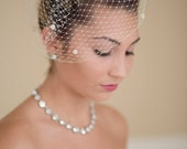 Birdcage Veil French Veiling with Dots Blusher Wedding Veil 11 Colors Available