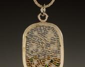 Mosaic Jewelry, Pendants, Micro Mosaic Jewelry,  Cloud Pendant - Micro Mosaic Collection