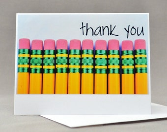 Thank You Pencil Note Card