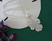 Oak Silver Leaf Necklace, Real Leaf Necklace, Oak Leaf, Silver Aspen Leaf, LC27