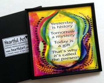 YESTERDAY Is HISTORY Magnet Inspirational Quote Motivational Print Popular Sayings Friend Birthday Gift Heartful Art by Raphaella Vaisseau