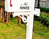 Mailbox Address Number Script Style Lettering Vinyl Decals Set of Three Increase Curb Appeal Easy to Apply Stickers House Number Street