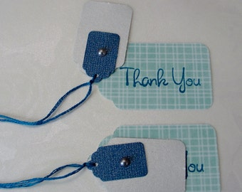 Paper Tags - Teal, Blue, and Silver