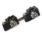 Camera Bobby Pins - Vintage Camera - Camera - Camera Jewelry - Black and White Camera - Illustration - Shrink Plastic - Camera Illustration