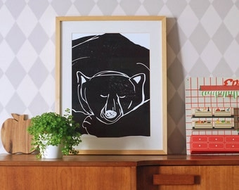 SUMMER SALE! A3 size Poster Sleepy bear
