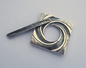 European Pewter Square Swirl Toggle Clasp 27mm CHOOSE 1 set 3 set 5 set Discount