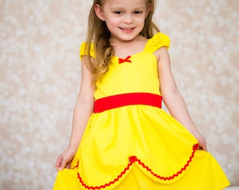 Belle dress YELLOW Princess dress from Lover Dovers handmade costume Practical princess dress