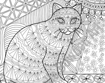 coloring page printable calico ta bby cat printable zendoodle il
