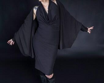 Black Loose Shrug Jacket Shawl Bolero Wrap Multiple Colors Available