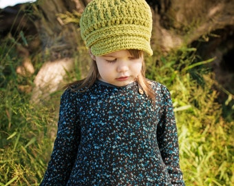 Baby Newsboy Hat 9 to 12 Month Baby Girl Hat Baby Baby Boy Hat Baby Newsboy Cap Crochet Newsboy Knit like Buckle Country Green Baby Clothes