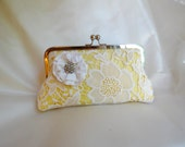 THE AMELIA CLUTCH  bridesmaid bridal clutch lace silk mother of the bride gift add on photo lining