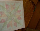 doll Miniature quilt KATIE ARTHUR dollhouse light pink star