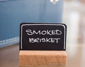 12 mini-chalkboard place cards wedding escort cards rustic barn wood favors country chic