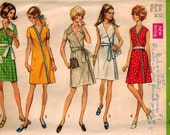 Vintage 70's Sewing Pattern, Misses Front Wrap Skirt, Size 12