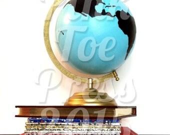 Chalkboard World Globe // Customizable // Wanderlust Globe // Hand Painted Nursery // Wedding Decor