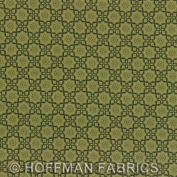Medallions Alchemy Pine Gold Hoffman Fabric 1 yard