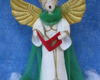 Cloth Doll E-Pattern 19inch Christmas Caroling Angel