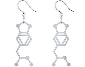 MDMA Molecule Earrings - Silver