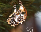 Oyster Fleur De Lis Earrings