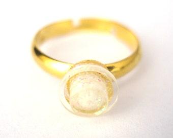 Pailleté Stud Ring, bague de fiançailles, bague de mariage - à la main avec LEGO(r) goujons or plaqué ou argent plaqué brique