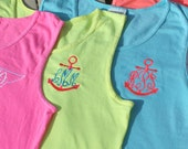 Monogram Tank Top Personalized Swim Suit Cover Neon Colors Sorority Monogram Greek Life