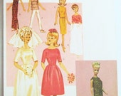 """11 1/2"""" Fashion Doll Retro Sewing Pattern Vintage Clothes Reprint from 1964 Butterick 3419 Shipping to USA INCLUDED"""