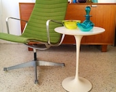 Early Production Aluminum Group Bright Green Early Production Charles Eames Herman Miller Lounge Chair