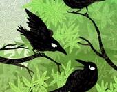 Summer Crows 8x12 art print
