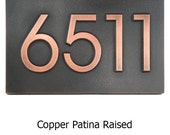 Modern Home Address  Advantage Numbers - 3 or 4 House Numbers 13x8 inches Custom for you by Atlas Signs and Plaques