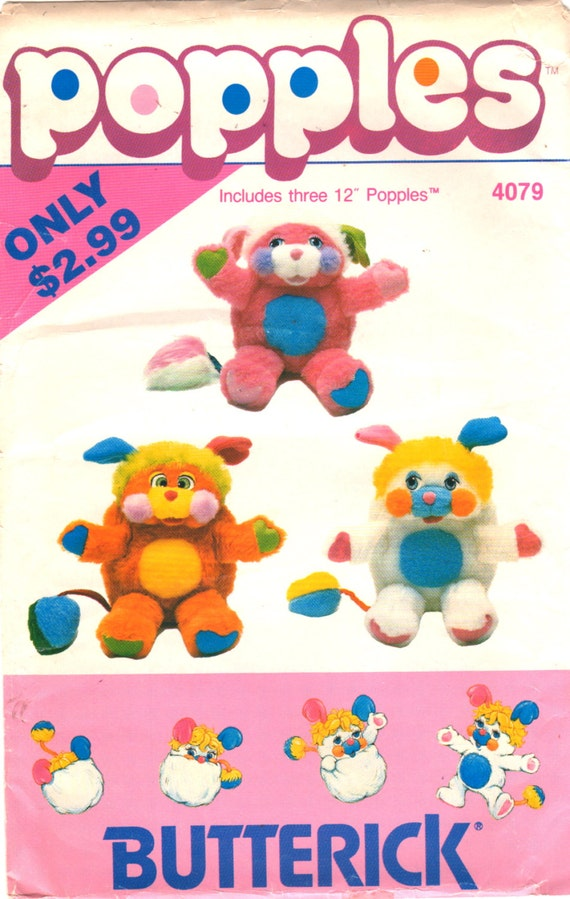 Butterick 4079 417 1980s Soft Popples Pattern Puzzle by mbchills