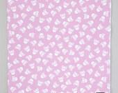 On SALE - Punk Rock Baby - Skull Baby Blanket - Pink Blanket - Skull and Crossbones -  Baby Blanket -  Flannel Blanket  - Receiving Blanket