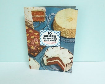 SALE! Vintage Cook Booklet, 10 Cakes Husbands Like Best, from Spry Shortening's Recipe Round-Up