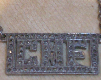 Vintage Sterling Silver and Marcasite Tie Money Clip