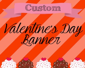 Valentine's Day Banner, Valentine's Shop Banner, Custom Holiday Etsy Banner and Avatar Design - FOR ANY HOLIDAY