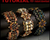 Shapeshifter Beadwoven Bracelet- PDF tutorial instant download